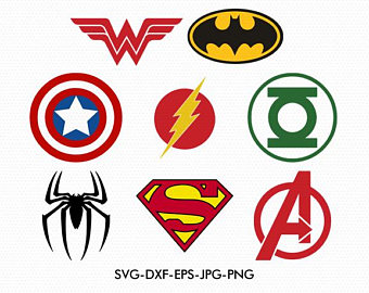 340x270 Superheroes Logos Etsy