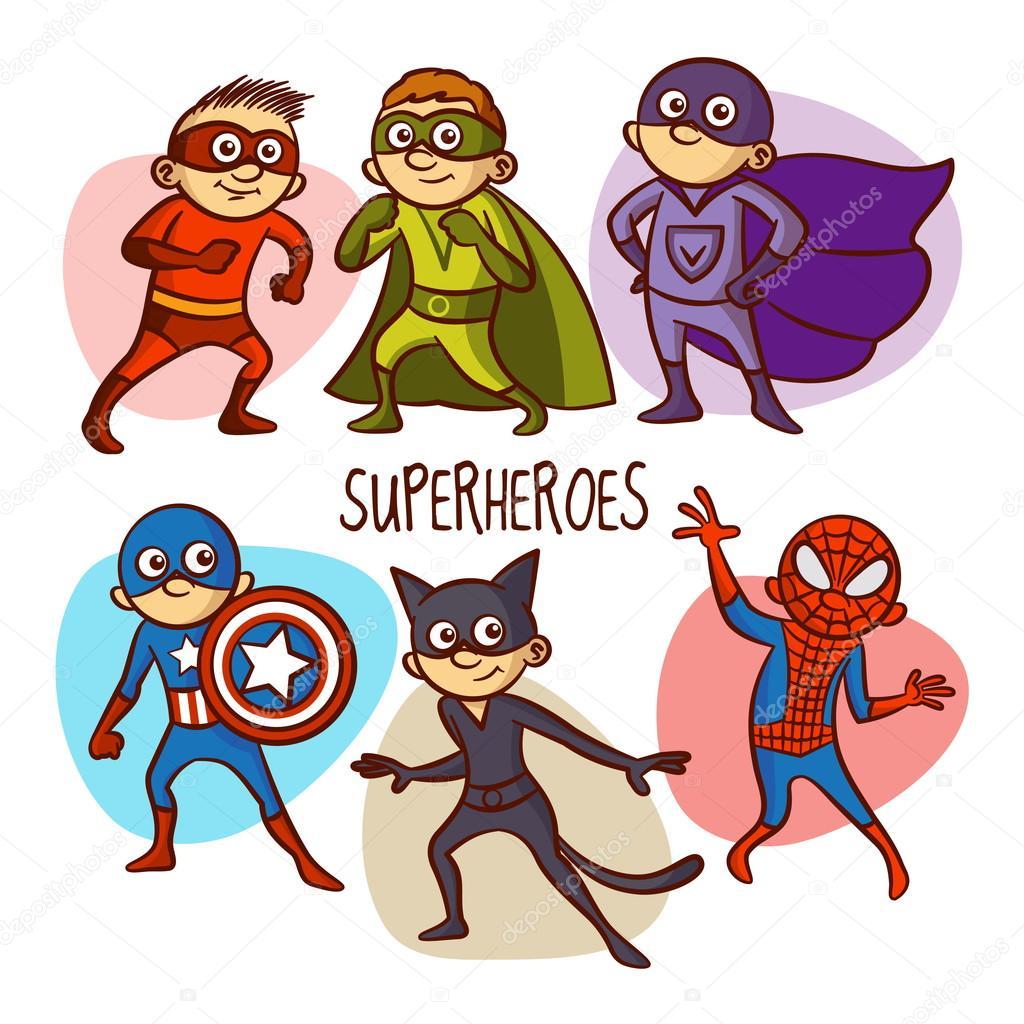 1024x1024 Superheroes. Kids. Vector Illustartion Stock Vector Ichbinsam