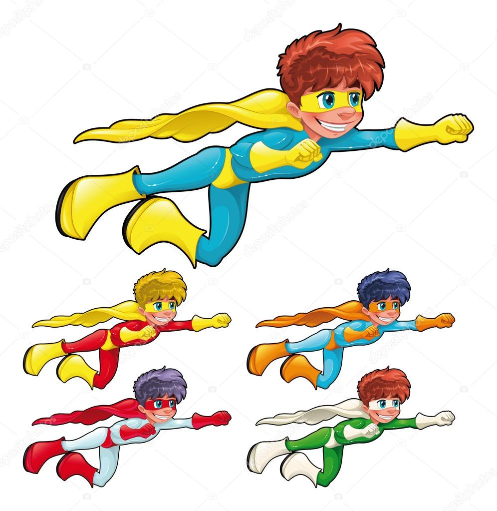 996x1023 Young Superheroes. Stock Vector Ddraw