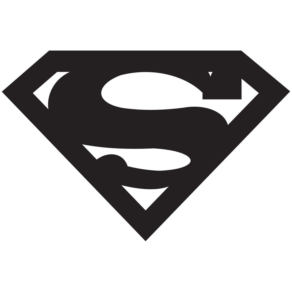 1000x1000 Related Pictures Superman Logo White Black Superman Black