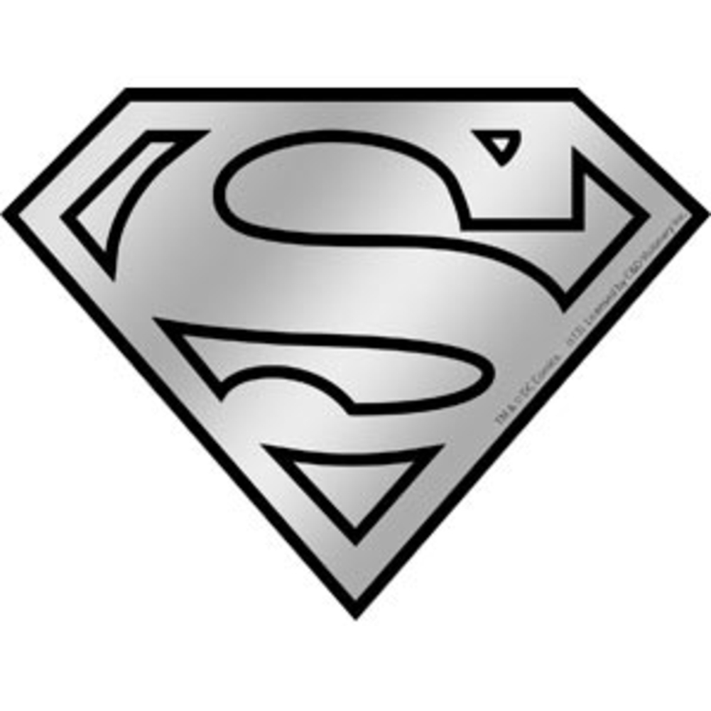 1001x1001 Superman Logo Chrome Sticker