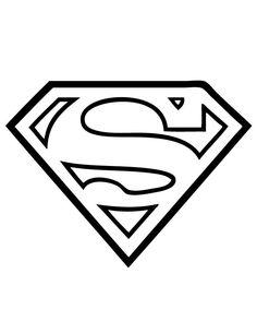 236x305 Superman Logo Flock Flockfolie Coloring Page Kleurplaat Cakes