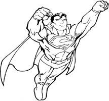 Superman white. Clipart black and free
