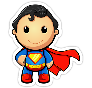 375x360 Cute Superman Clipart