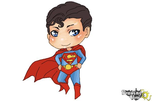 600x400 How To Draw Chibi Superman