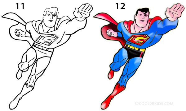 600x361 How To Draw Superman (Step By Step Pictures) Cool2bkids