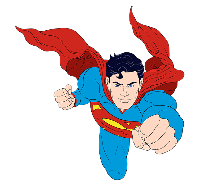 678x600 How To Draw Superman Easy Drawing Guides