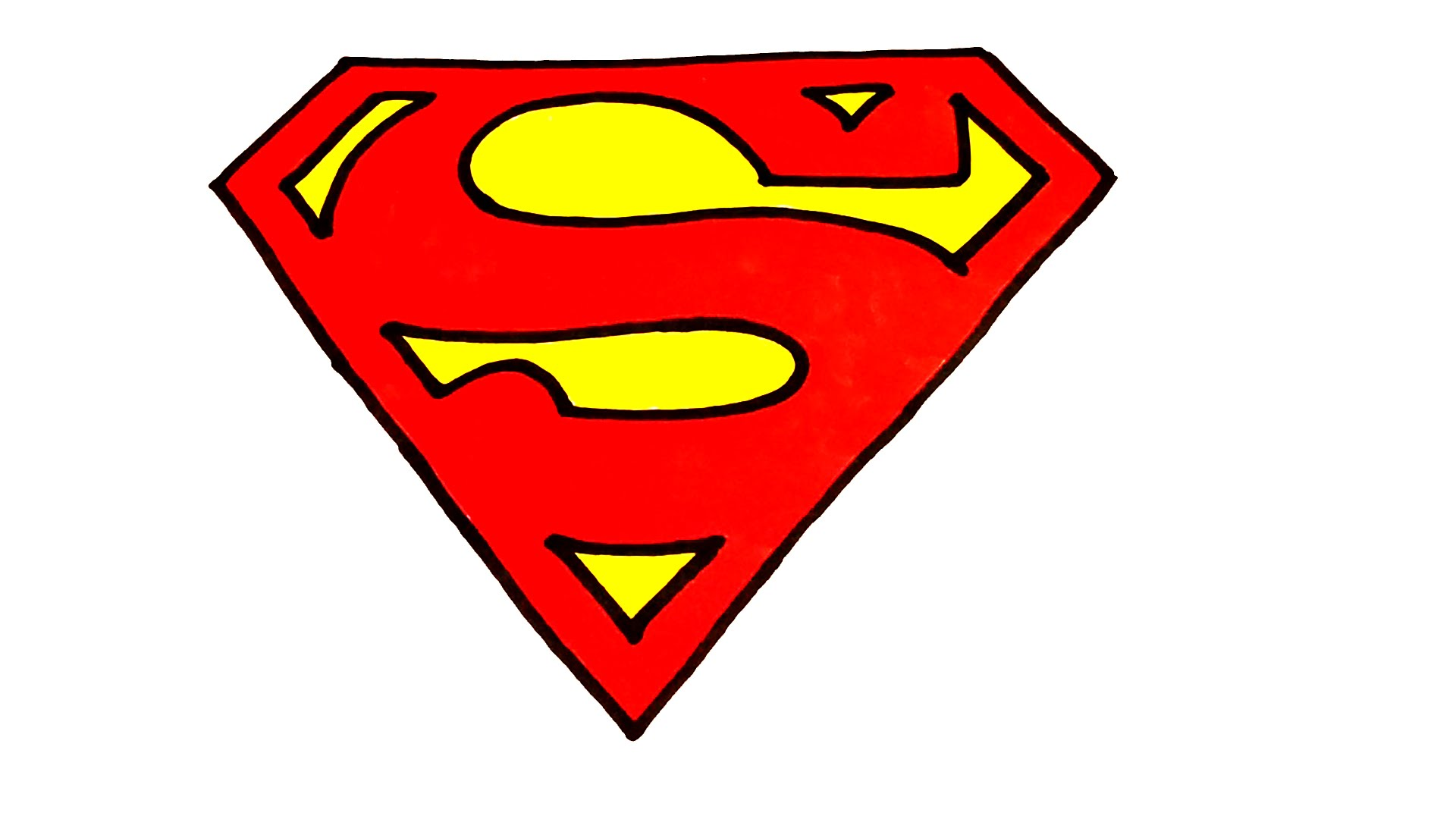 1920x1080 How To Draw Superman Logo Step By Step Easy For Kids