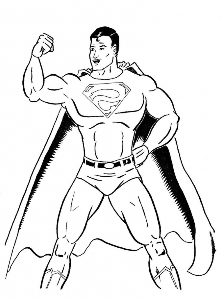 763x1024 Simple Superman Drawing