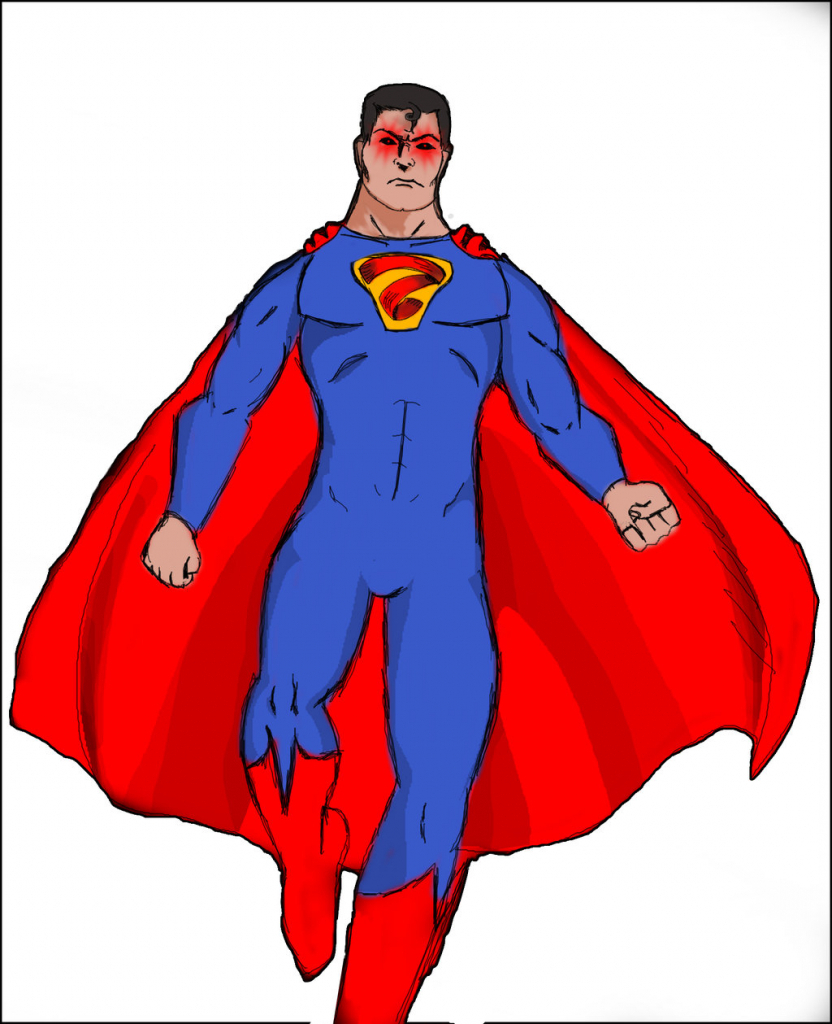 832x1024 Simple Superman Drawing Ba Superman Drawing Clipart Panda Free