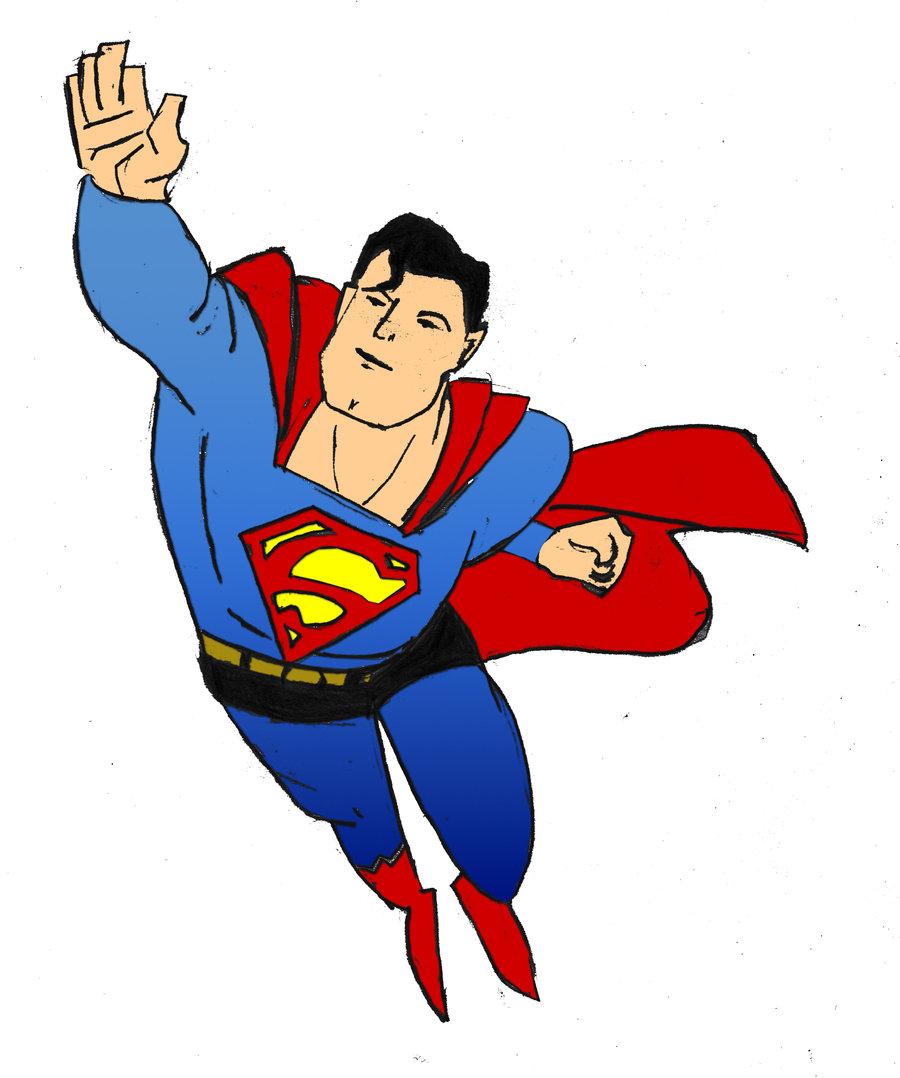 900x1078 Superman Cartoon Drawing