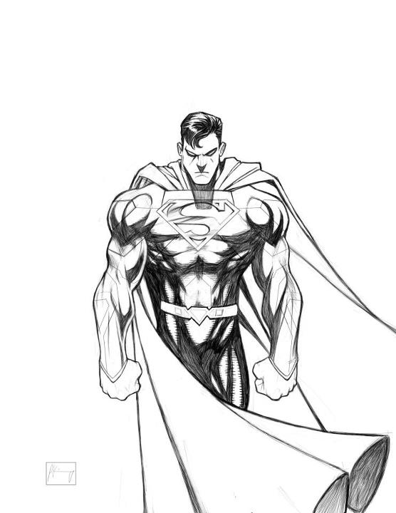 556x720 Superman Sketch By 2raw4life