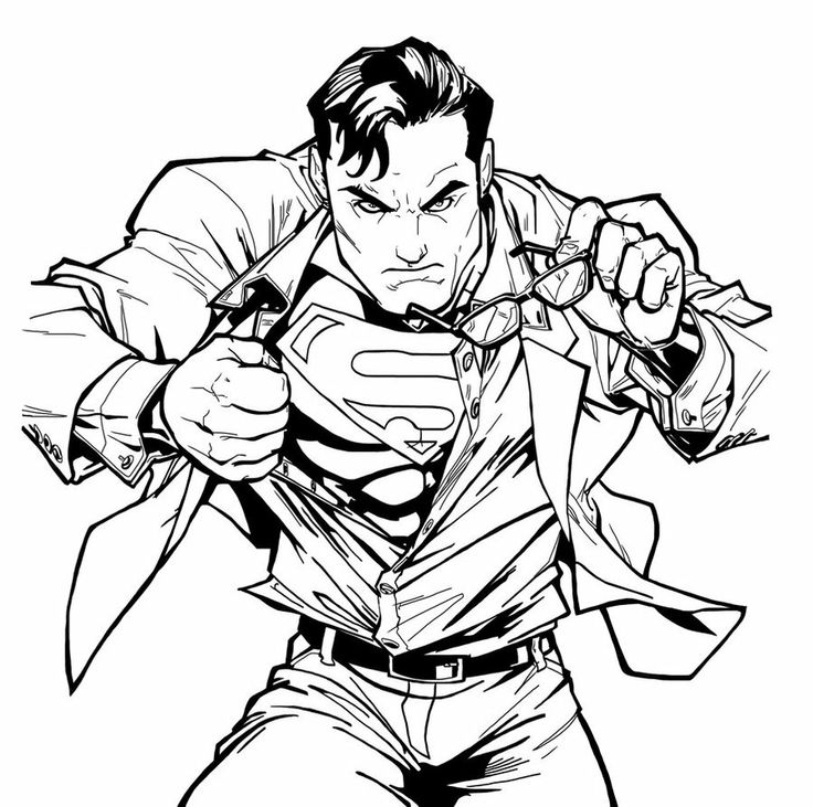 736x731 8 Best Superman Coloring Images Boys, Colouring