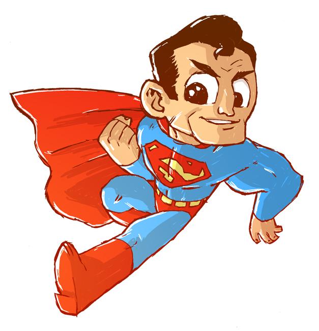 627x650 Superman Sketch By Derekhunter