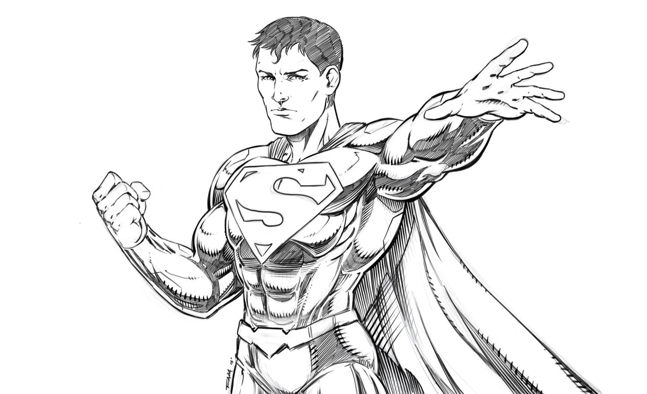 1280x779 Superman Sketch By Ram By Robertmarzullo