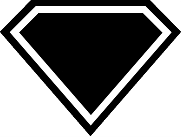 Superman Logo Black And White