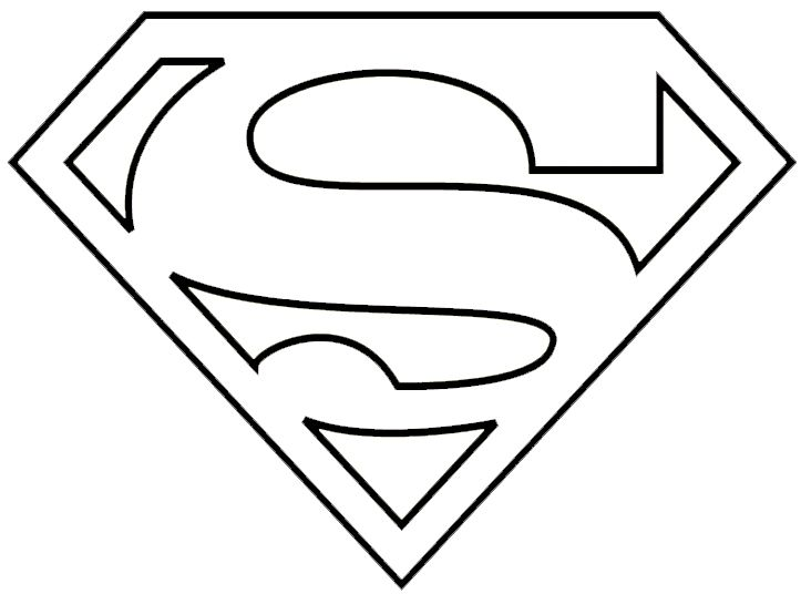 graphic regarding Supergirl Logo Printable identified as Superman Symbol Black And White Free of charge obtain easiest Superman