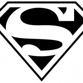 Superman Logo Black And White Free Download On Clipartmag