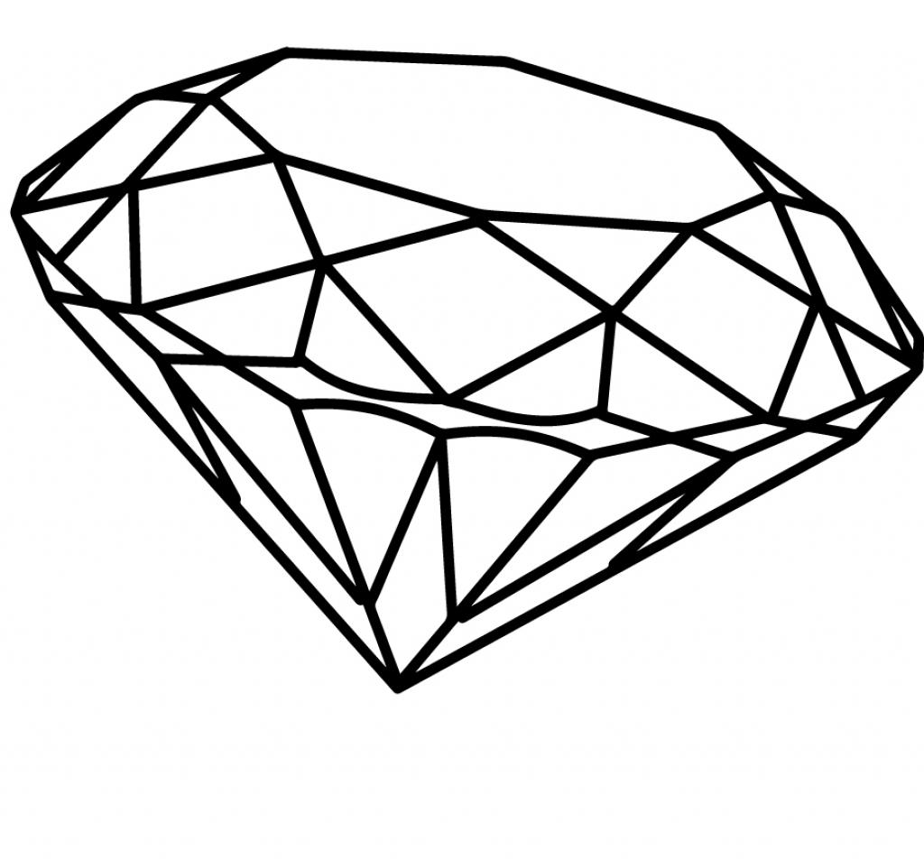 Superman logo outline free download best superman logo outline 1024x952 how to draw a 3d diamond how to draw the superman logo draw buycottarizona
