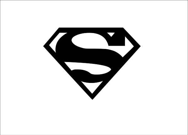 600x433 Superman Logo Sticker Outline Decal Window Decal