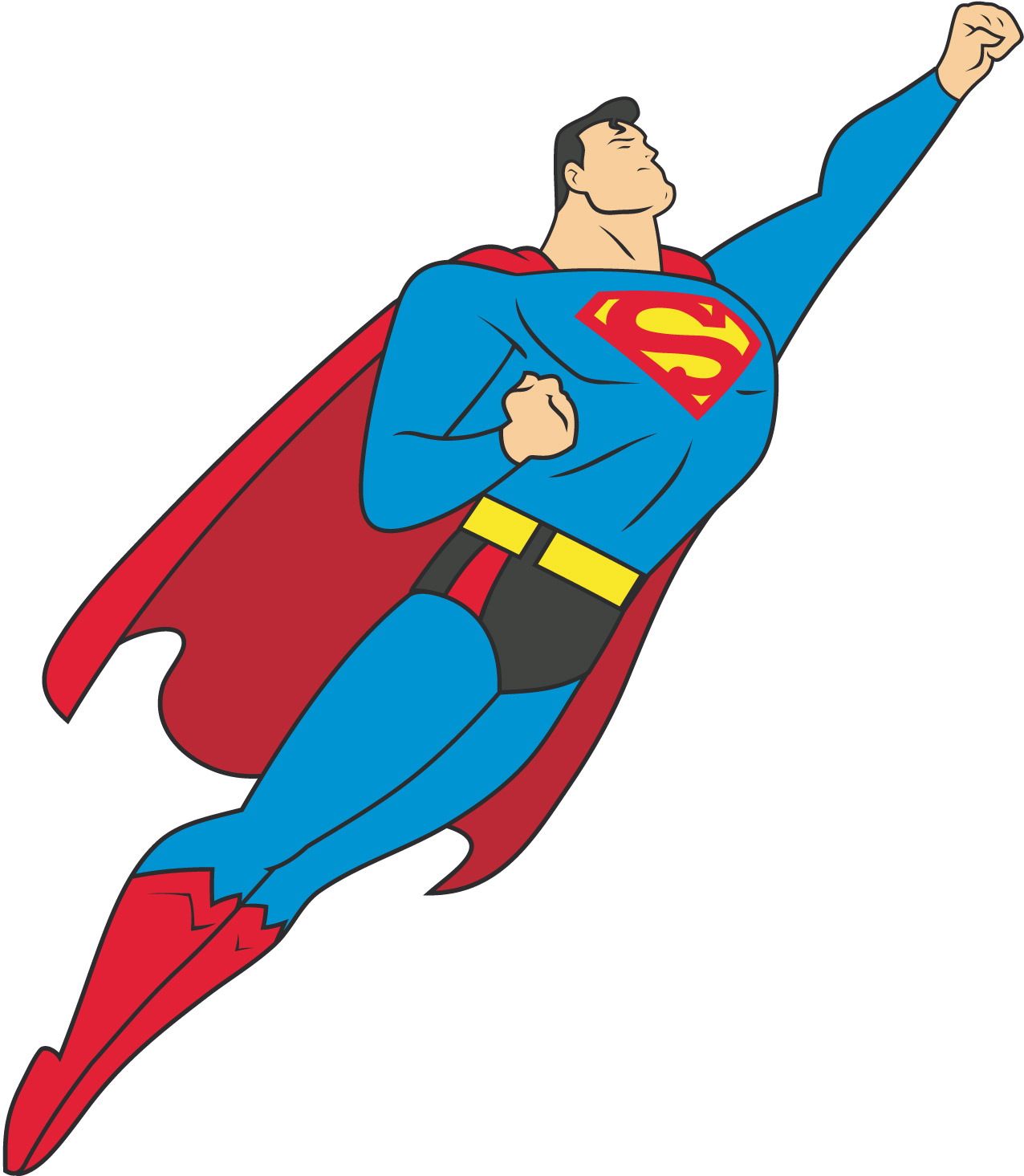 1276x1465 Free Superman Clipart