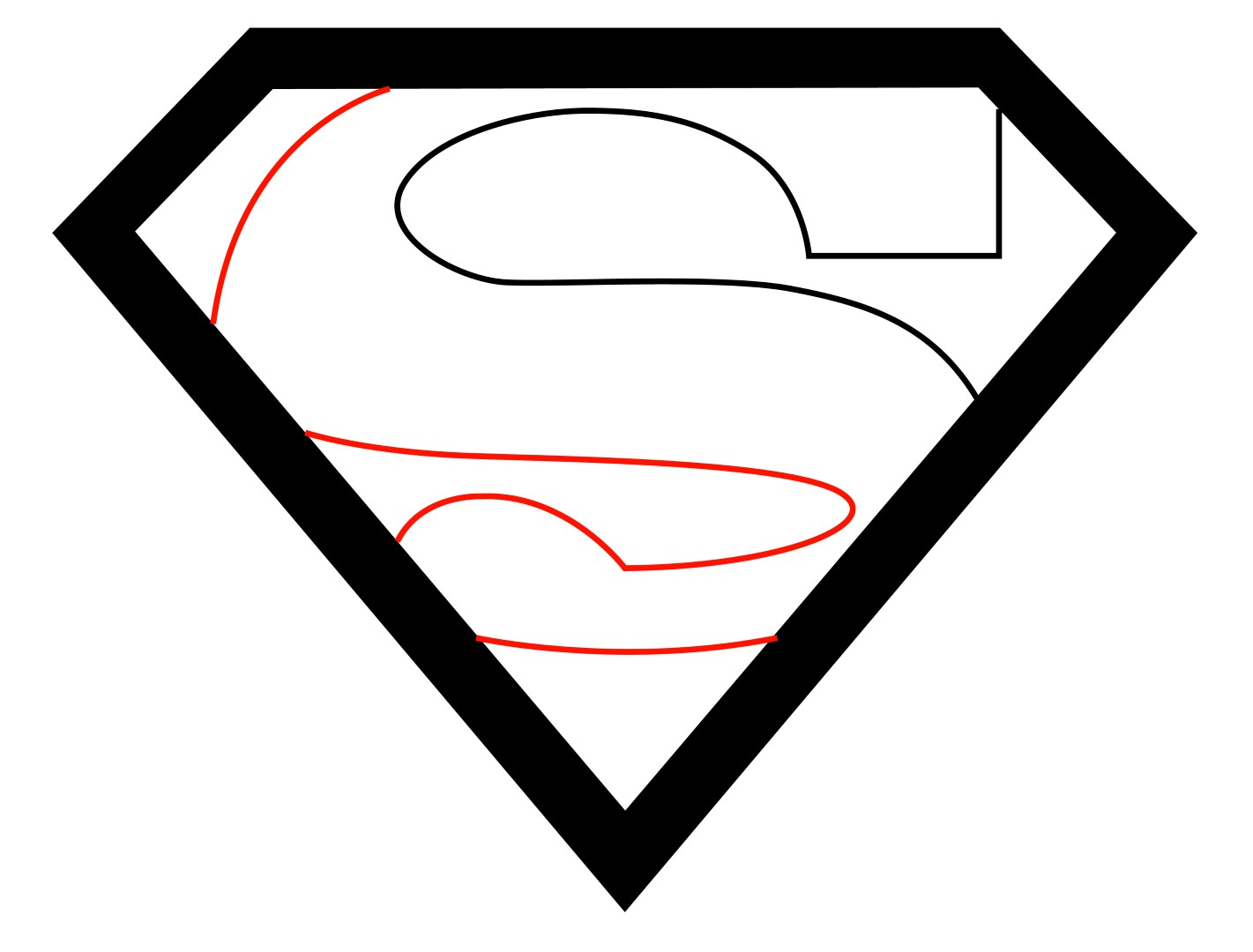 1421x1080 How To Draw The Superman Logo