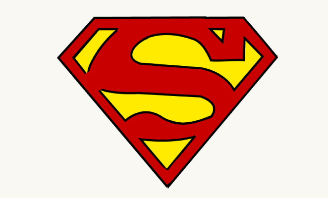 662x400 How To Draw Superman Logo Easy Step By Step Drawing Guides