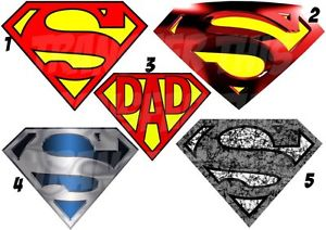 300x212 Superman Logo Iron On T Shirt Fabric Transfer Marvel Heros Lot Sm