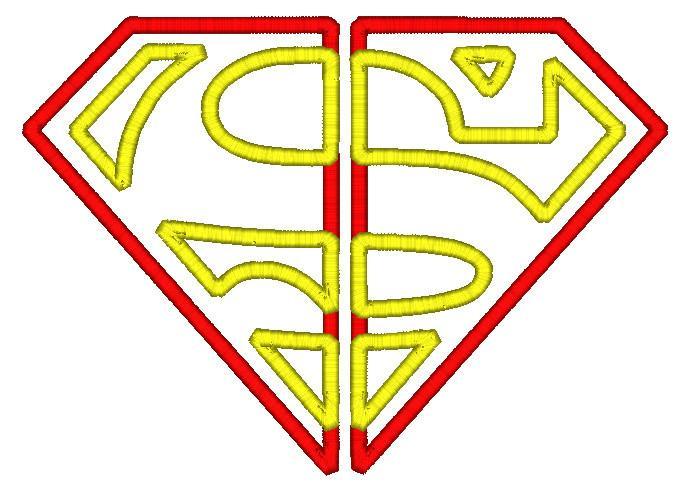 689x485 5x7 Split Superman Logo Ofnah