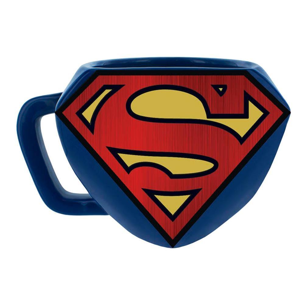 1002x1002 Superman Logo Shaped Mug Sculpted 3d Superman Mug