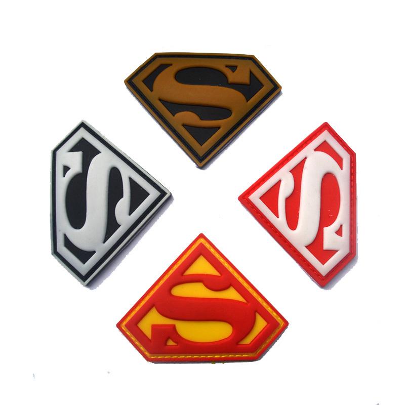 800x800 Superman Logo Morale 3d Pvc Velcro Patch [G57d7579dcfc11