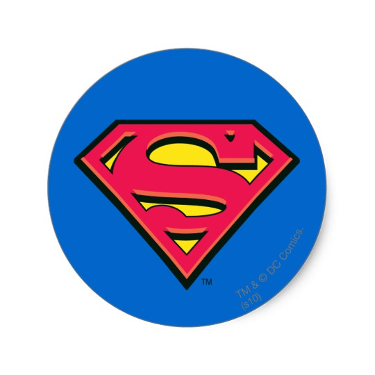 540x540 Superman S Shield Classic Logo Classic Round Sticker