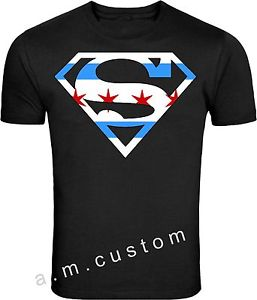 257x300 Chicago Superman Logo Windy City Skyline City Of Chicago Flag T