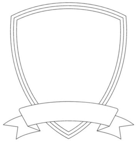 569x600 Shield Template Clipart
