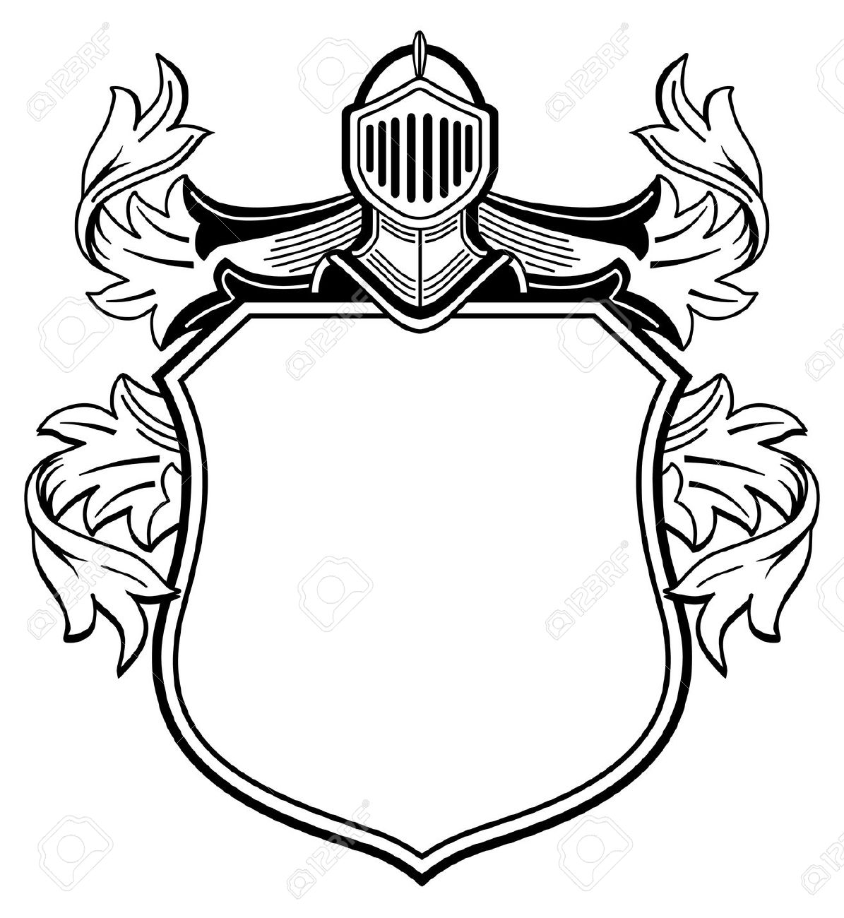 1195x1300 Drawn Shield Medieval Time