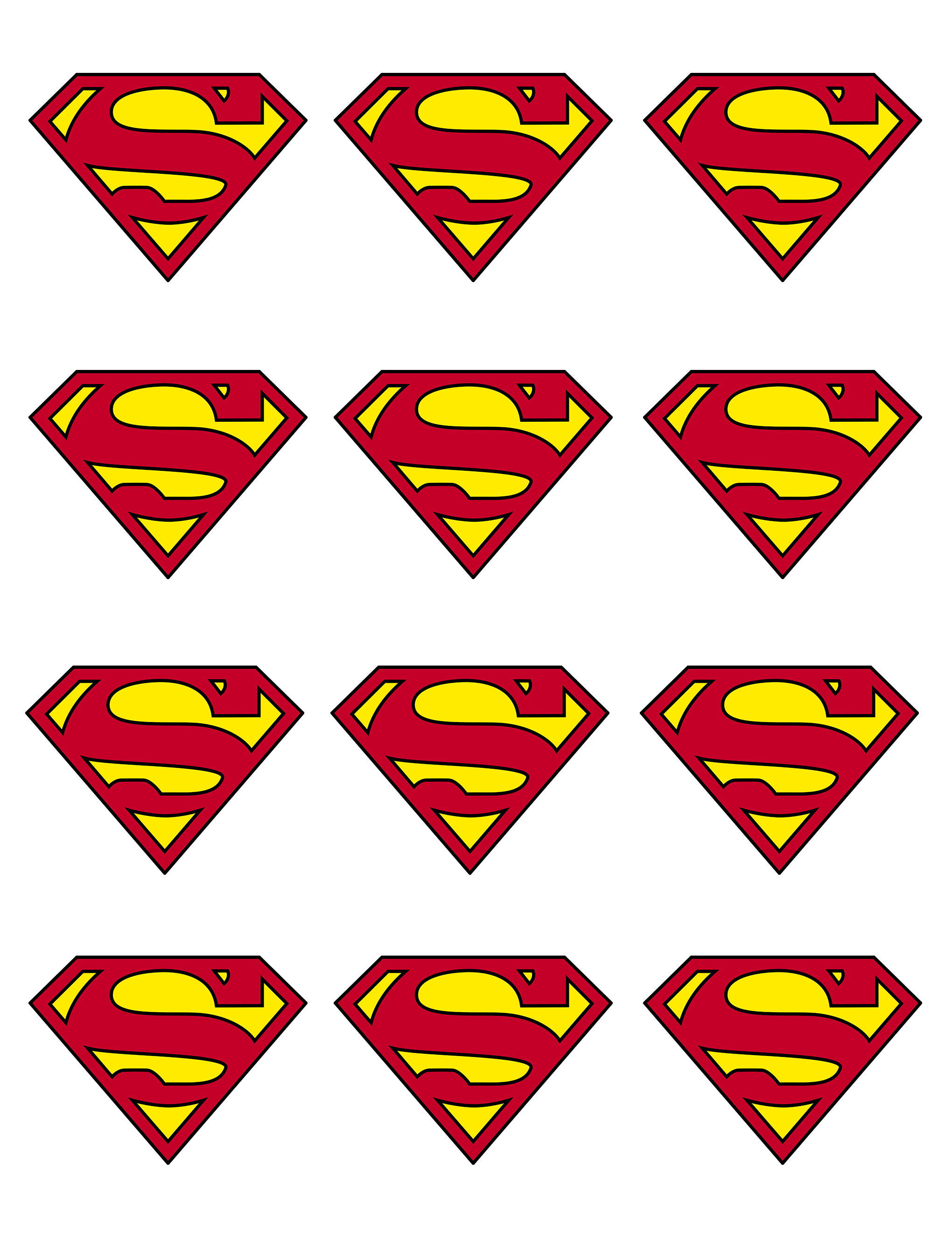 Sassy image with free printable superman template