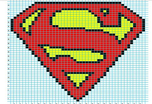 500x344 Ravelry Superman Logo Chart Pattern By Elizabeth Thomas