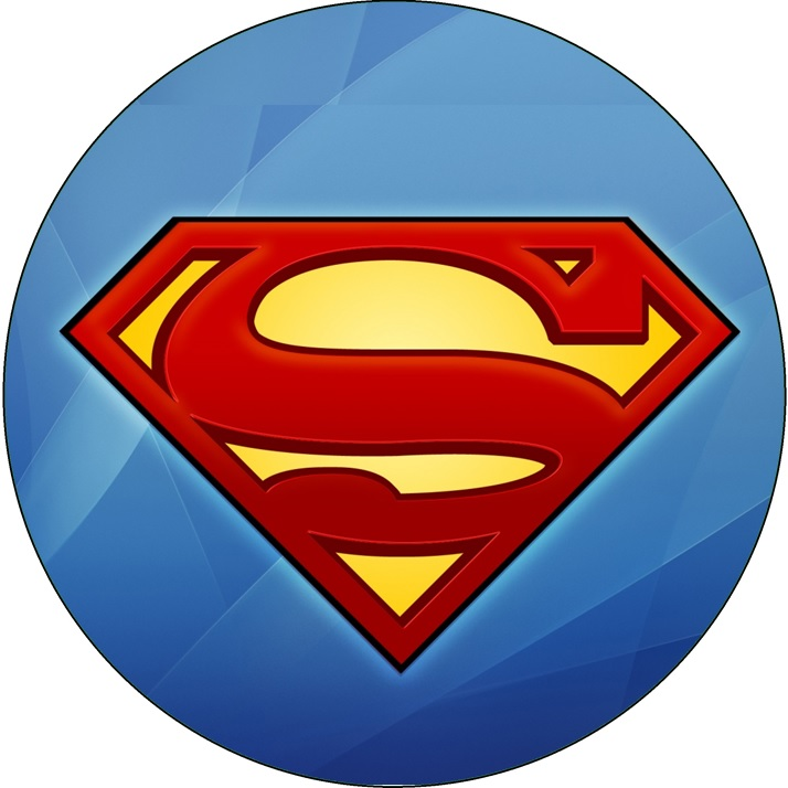 714x714 Superman Symbol Cake Image This Party Started
