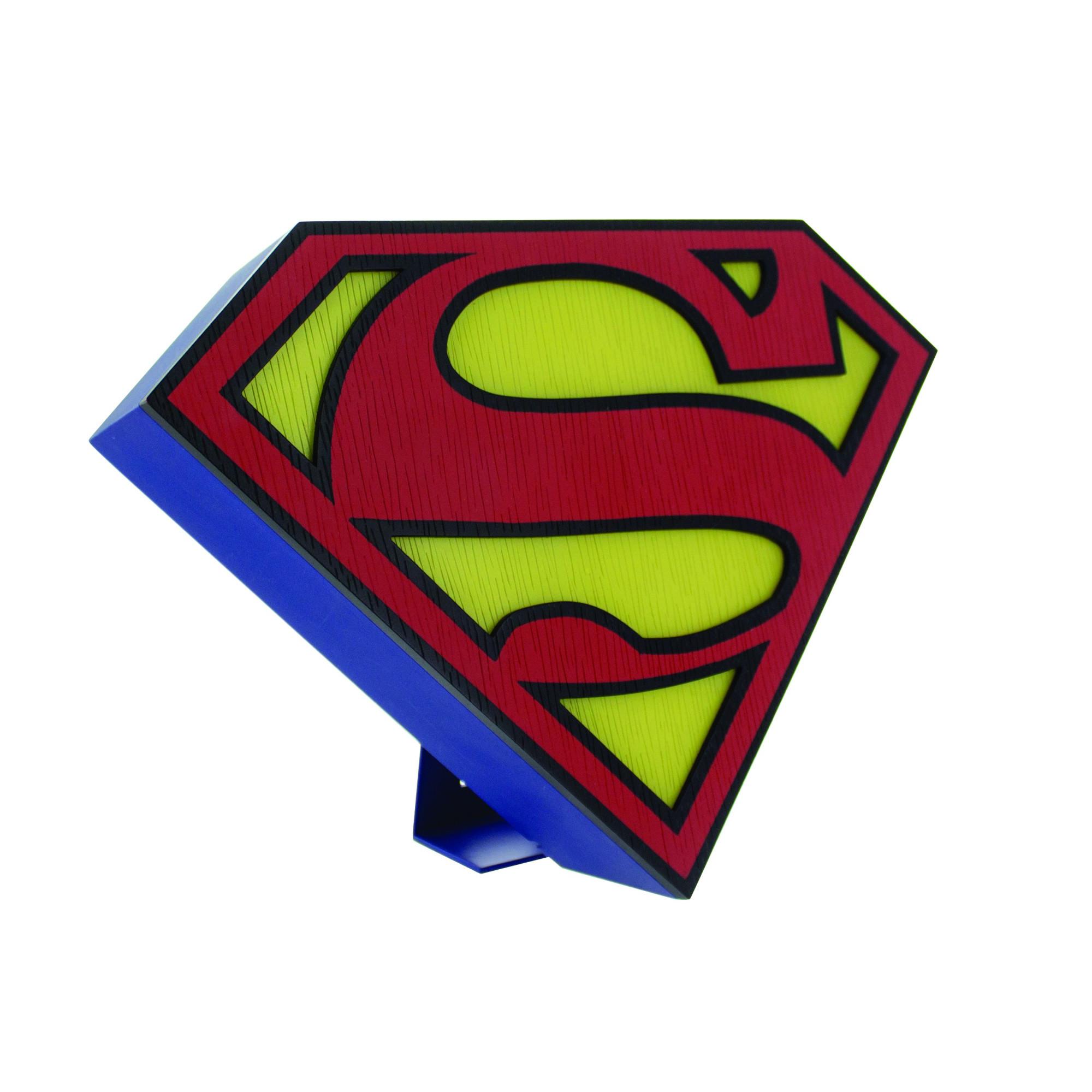 2000x2000 Superman Logo Light Lamp Free Standing Wall Mount Microusb