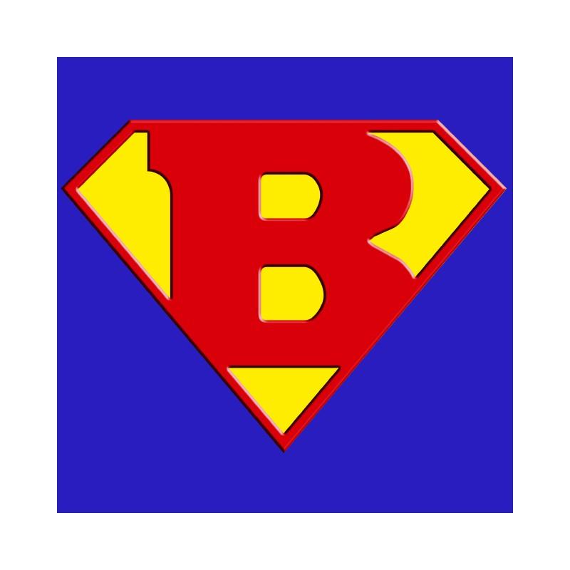 800x800 Superman Logo With A Royal Blue B