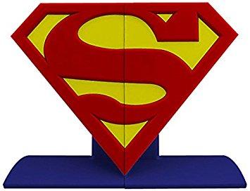 355x272 Dc Comics Superman Logo Bookends Statue, Redyellow
