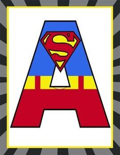 236x305 Add Your Own Letter . Inspired By Superman's Logo! Superman
