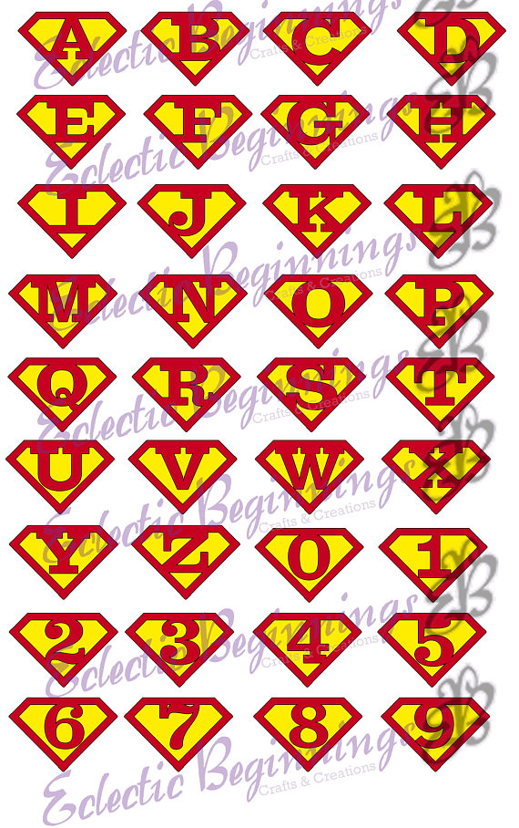 570x908 Alphabet And Numbers Png Digital File Diy Print Clip