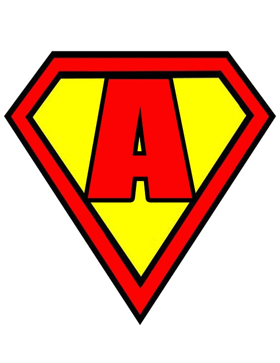 Superman Symbol With Different Letters Clipart | Free ...