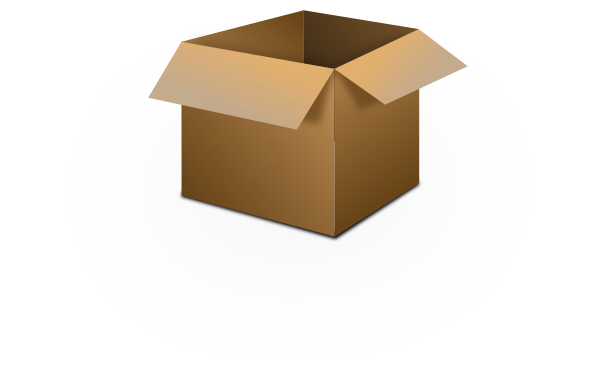 600x376 Picture Of Small Cardboard Box With Open Top Open Box Clip Art