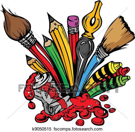 450x442 Art Supplies Clip Art Illustrations. 18,408 Art Supplies Clipart