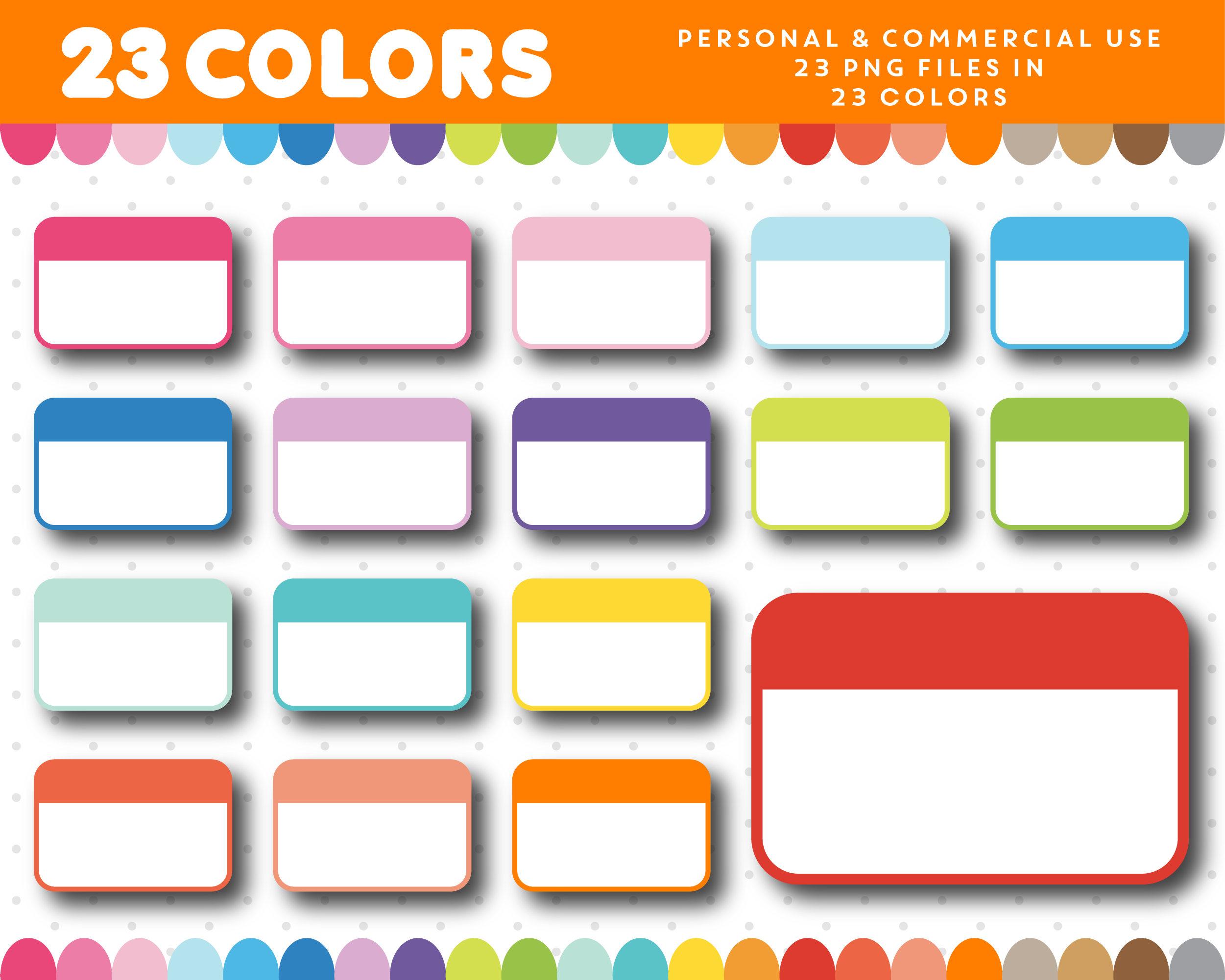 2501x2001 Half Box Clipart, Half Sticker Box Clip Art, Planner Box Clip Art