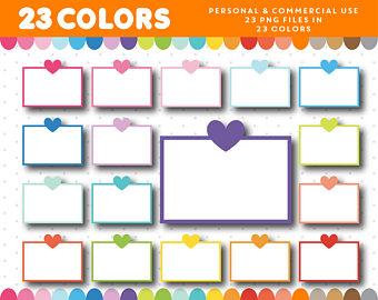 340x270 Heart Half Box Clipart Half Sticker Box Clip Art Planner Box