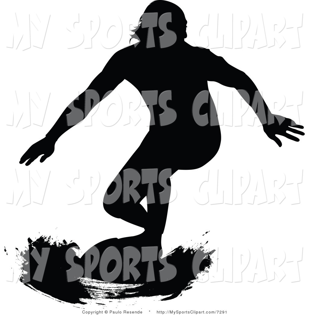 1024x1044 Sports Clip Art Of A Black And White Surfer Dude By Paulo Resende