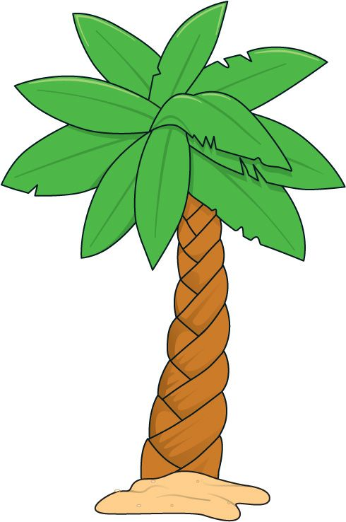 490x738 Palm Tree And Surfboard Clipart